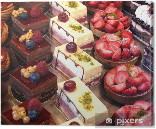 cake and pastry display Canvas Print - Themes