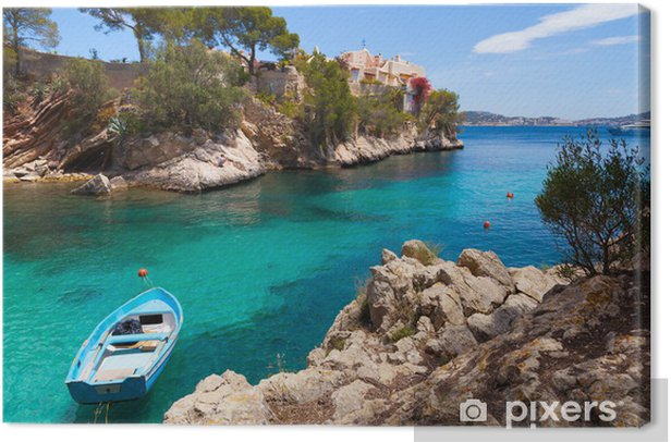 Cala Fornells View in Paguera, Majorca Canvas Print - Themes