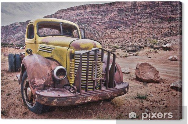 Camion vintage rouillé - Montana, USA Canvas Print - Nature