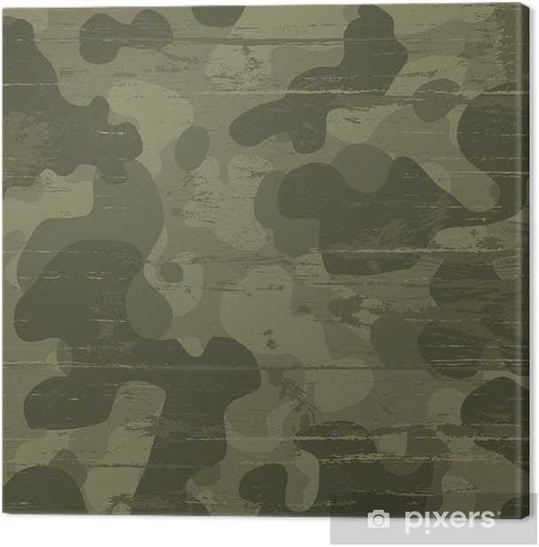 Camouflage military background. Vector illustration, EPS10 Canvas Print - Themes