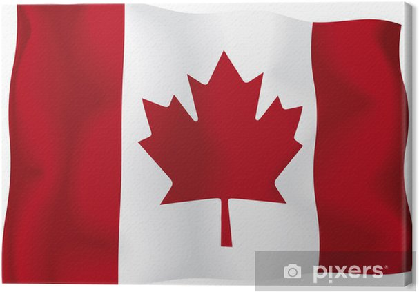 Canada Canadian Flag Canvas Print Pixers We Live To Change
