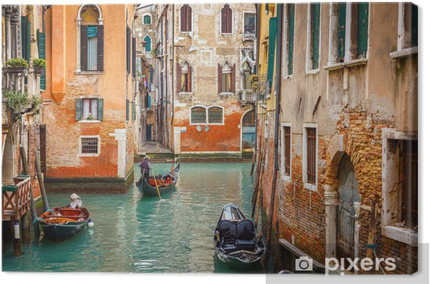 Canal in Venice Canvas Print - Themes