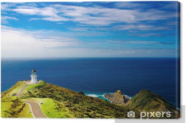 Cape Reinga Lighthouse, New Zealand Canvas Print - Lighthouse