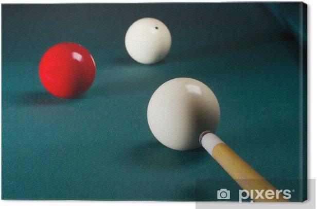 Carambole billiard Canvas Print - Entertainment