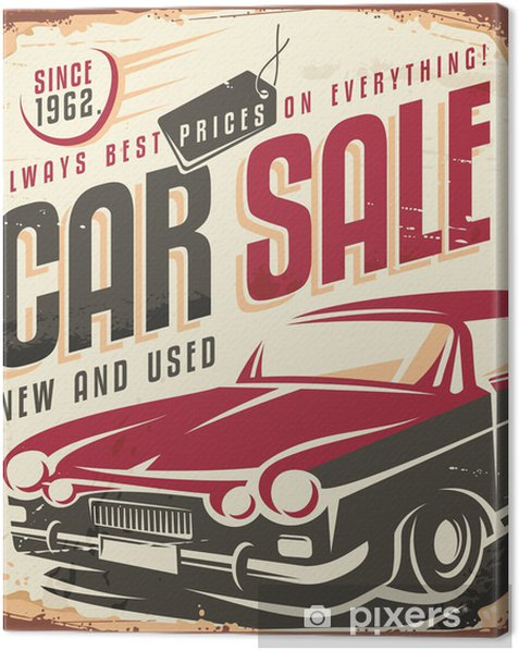 Care sale vintage sign Canvas Print -