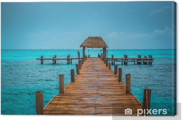 Caribbean pier Canvas Print - Themes