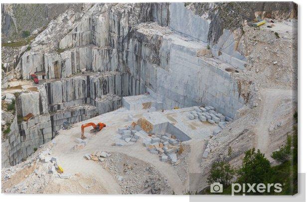 Carrara marble quarry, Tuscany, Italy Canvas Print