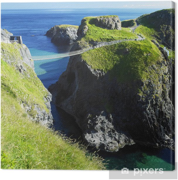 Carrick-a-rede Rope Bridge, County Antrim, Northern Ireland Canvas Print - Themes