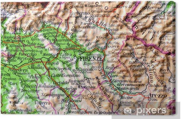 Cartina Geografica Della Toscana.Cartina Geografica Della Toscana Firenze Canvas Print Pixers We Live To Change