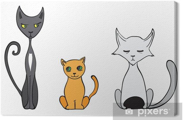 Cartoon Cats Illustration Canvas Print Pixers We Live To Change