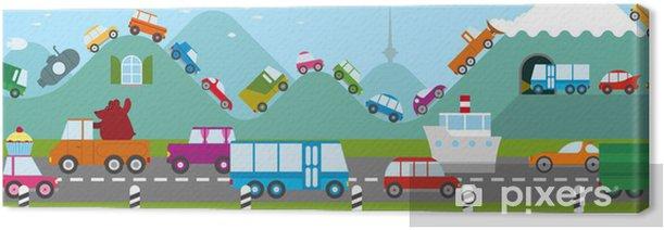 Cartoon Traffic Jam Canvas Print Pixers We Live To Change