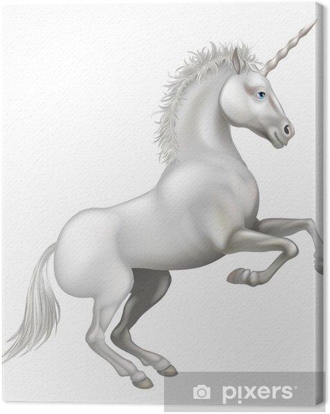 Cartoon Unicorn Canvas Print - Imaginary Animals
