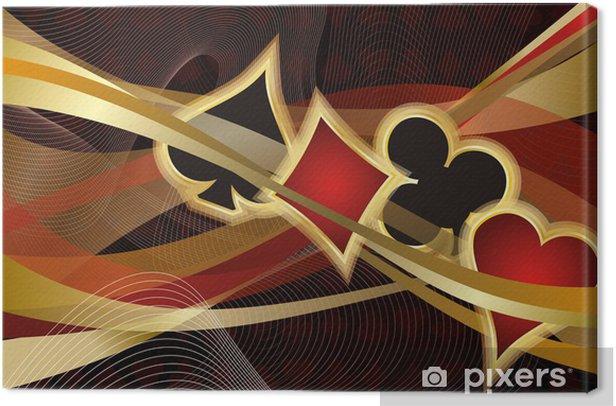 Casino Poker banner, vector illustration Canvas Print - Entertainment