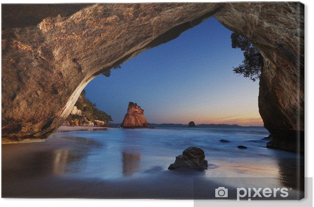 Cathedral Cove, New Zealand Canvas Print - Themes