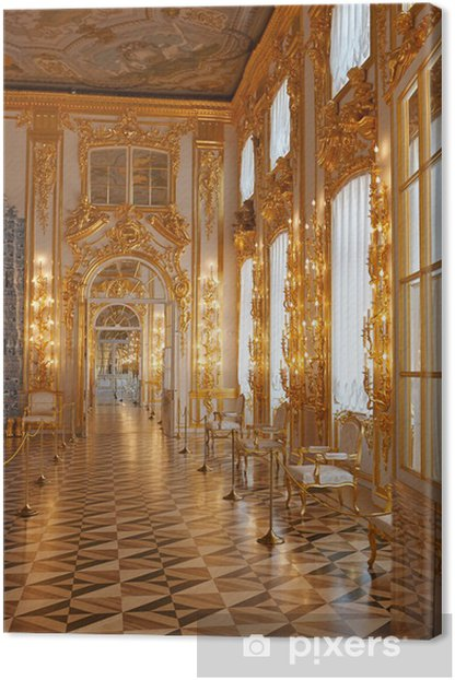Catherine Palace in Canvas Print - Private Buildings
