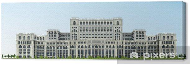 Ceausescu Palace, Bucharest, Romania Canvas Print - Europe