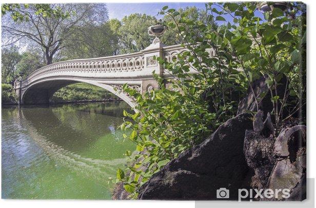 Central Park Bow Bridge Canvas Print Pixers We Live To Change