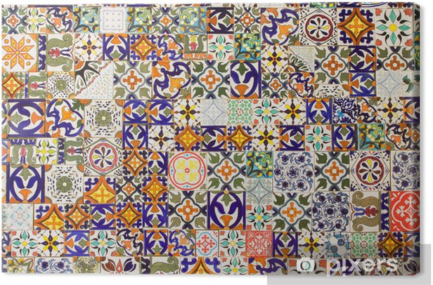 ceramic tiles patterns Canvas Print - Tiles