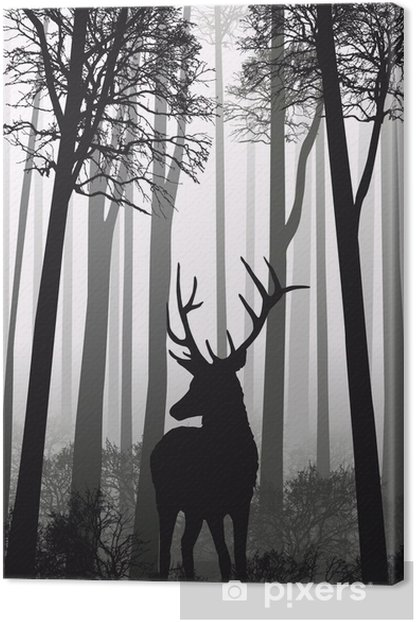 cerf foret Canvas Print - Styles