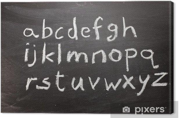 Chalkboard alphabet Canvas Print - Art and Creation