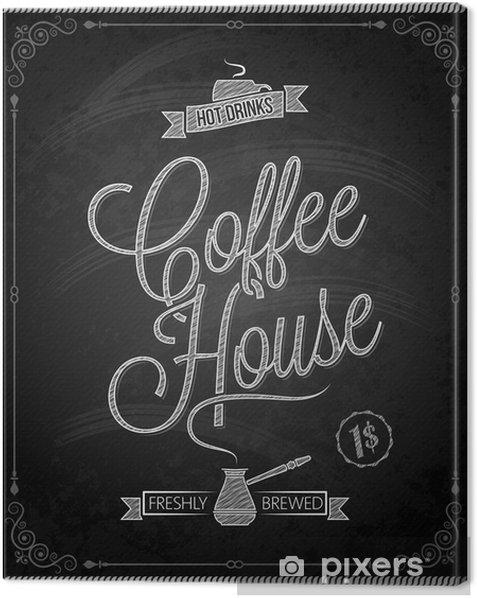 chalkboard - frame coffee menu Canvas Print - Meals