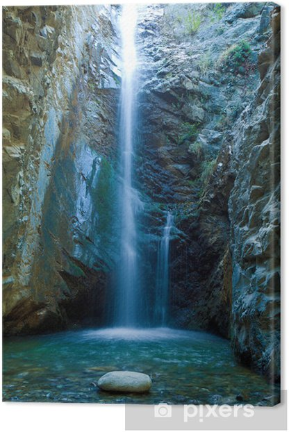 Chantara Waterfalls in Trodos mountains, Cyprus Canvas Print - Themes