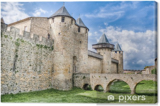 Chateau Comtal at Carcassonne, France Canvas Print - Themes