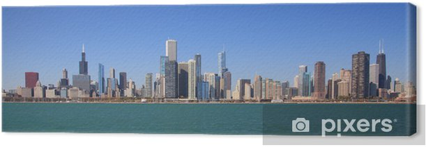 Chicago city skyline panoramic Canvas Print - Themes