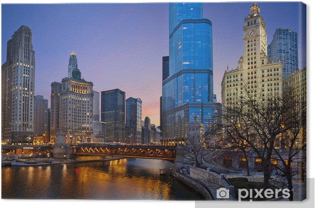Chicago riverside. Canvas Print - Themes
