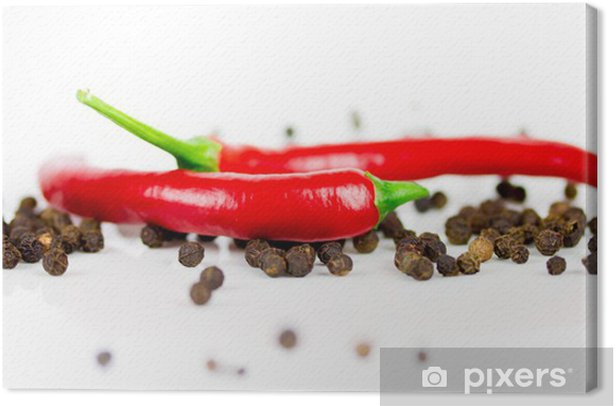 Chili und Pfeffer Canvas Print - Spices, Herbs and Condiments