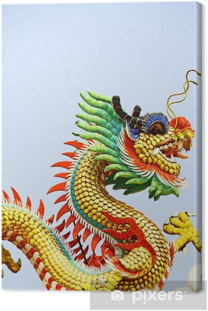 Chinese dragon Canvas Print - Monuments