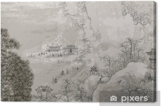 Chinese landscape Canvas Print - Styles