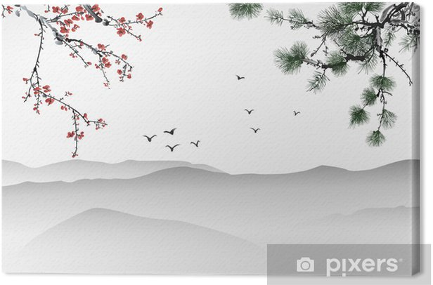 Chinese painting Canvas Print - Themes
