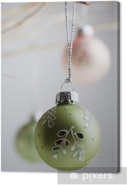 Christmas Baubles.Christmas Baubles Canvas Print