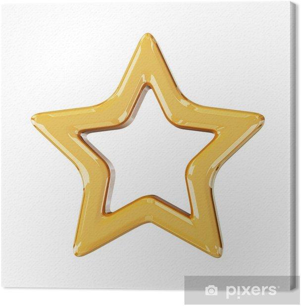 Christmas gold star Canvas Print - International Celebrations