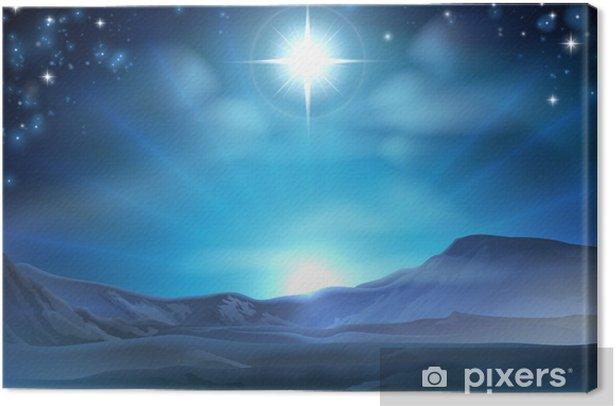 Christmas Nativity Star of Bethlehem Canvas Print - Themes