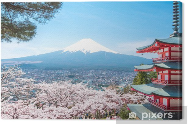 chureito pagoda Canvas Print - Japan