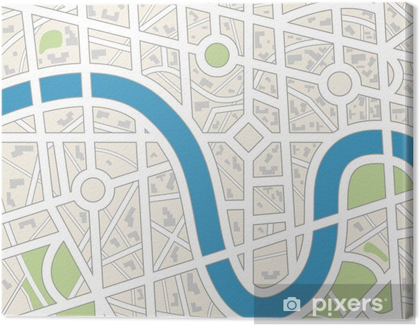 City map. Canvas Print - Accesories and Objects
