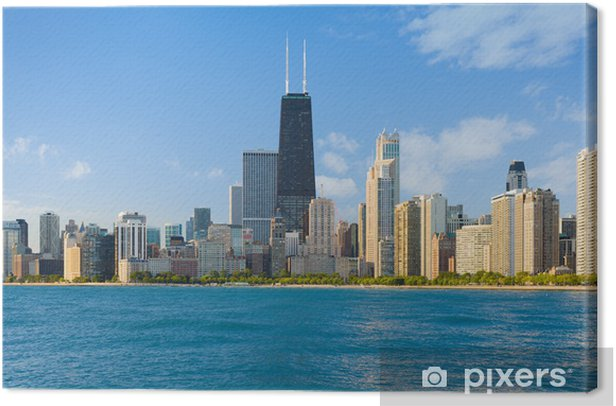 Cityscape of Chicago Canvas Print - Themes
