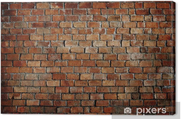 Classic Beautiful Textured Brick Wall Canvas Print - Themes