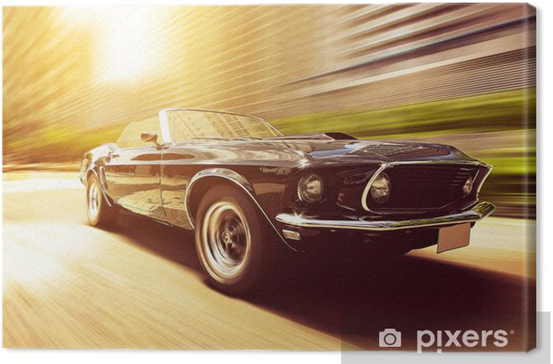 Classic Cabriolet Canvas Print - Themes