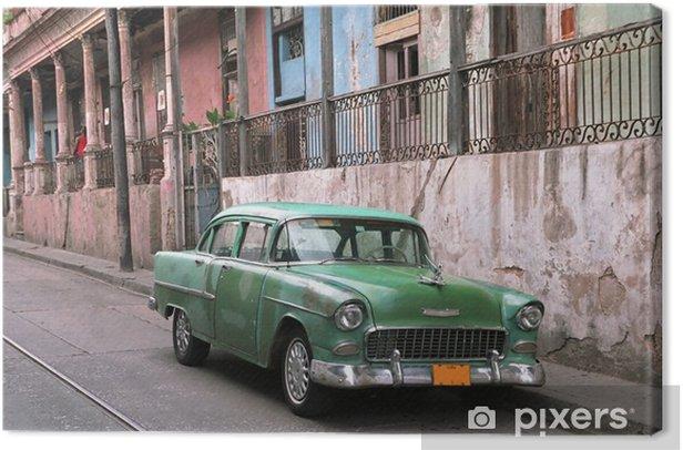 classic car - la havana - Cuba Canvas Print