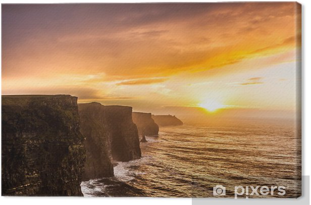 Cliffs of Moher at sunset in Co. Clare, Ireland Europe Canvas Print - Themes