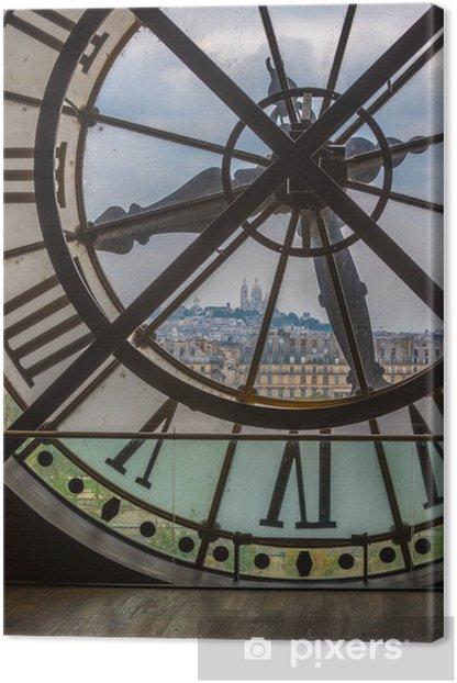 Clock in Orsay museum, Paris Canvas Print - Clocks