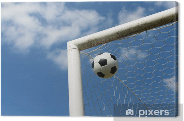 Close-up of a soccer ball Canvas Print - Religion