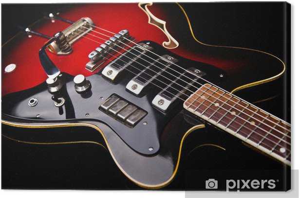 Close up of music guitar Canvas Print - Themes