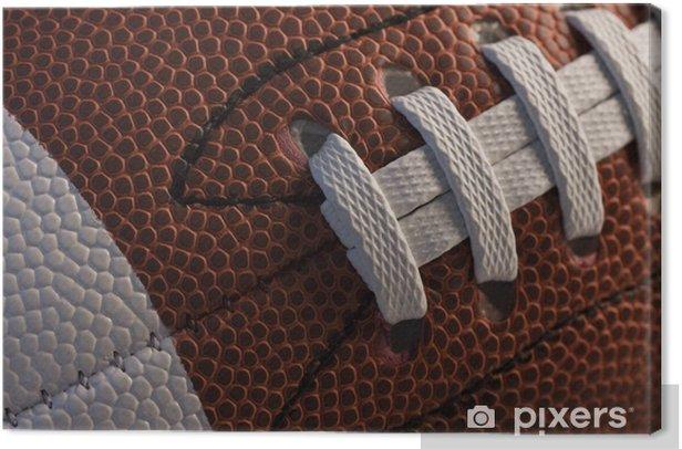 Closeup of American football Canvas Print - American football