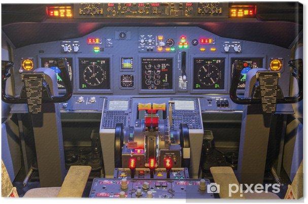 Cockpit of an homemade Flight Simulator - Boeing 737-800 Canvas Print