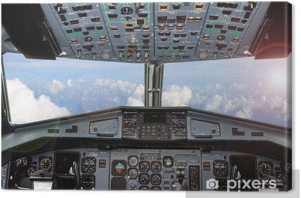 cockpit Canvas Print - Skies