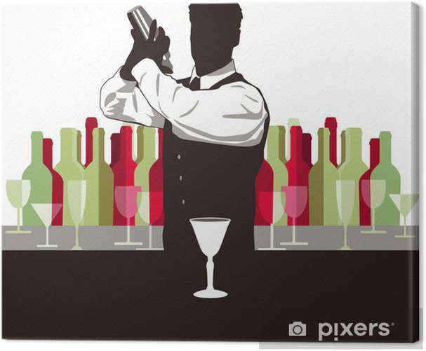 Cocktail mixen Canvas Print - Alcohol